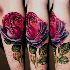 rose tattoo by burch
