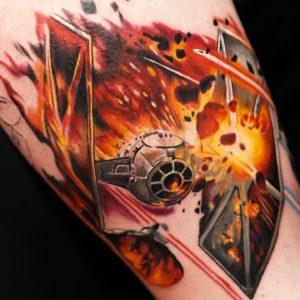 tie fighter tattoo by burch